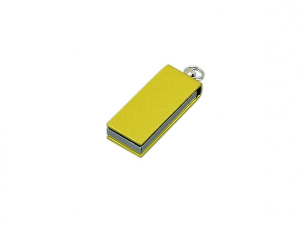 Флешка с мини чипом, минимальный размер, цветной  корпус, 64 Гб, желтый