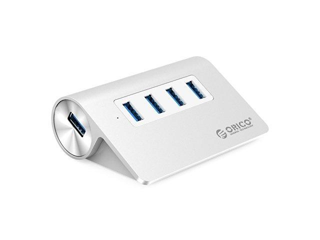 USB-концентратор Orico M3H4 (серебристый)