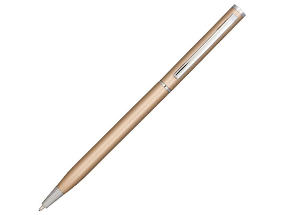 Ручка металлическая шариковая Slim, кремовый
