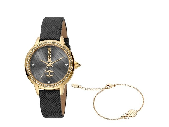 Подарочный набор: часы наручные женские, браслет (арт. 60024)