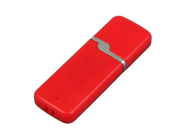 Флешка промо прямоугольной формы c оригинальным колпачком, 32 Гб, красный