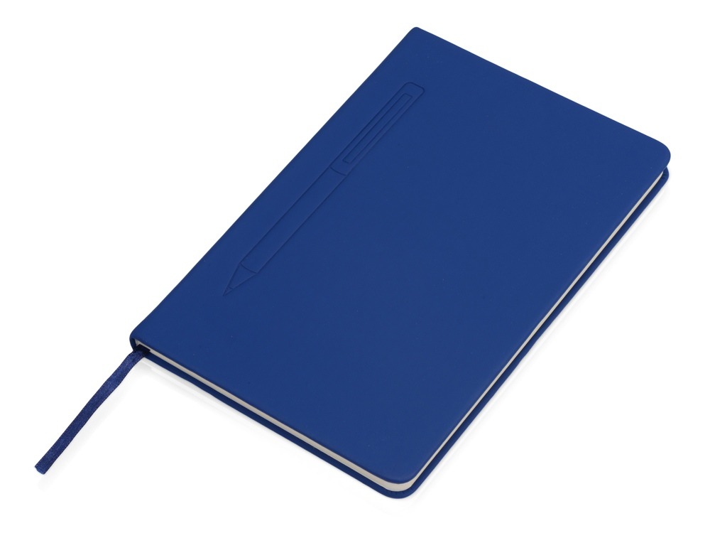 Блокнот А5 Magnet 14,3*21 с магнитным держателем для ручки, синий