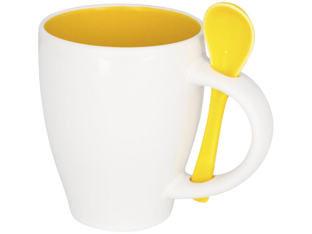 Чашка Nadu с ложкой, желтый