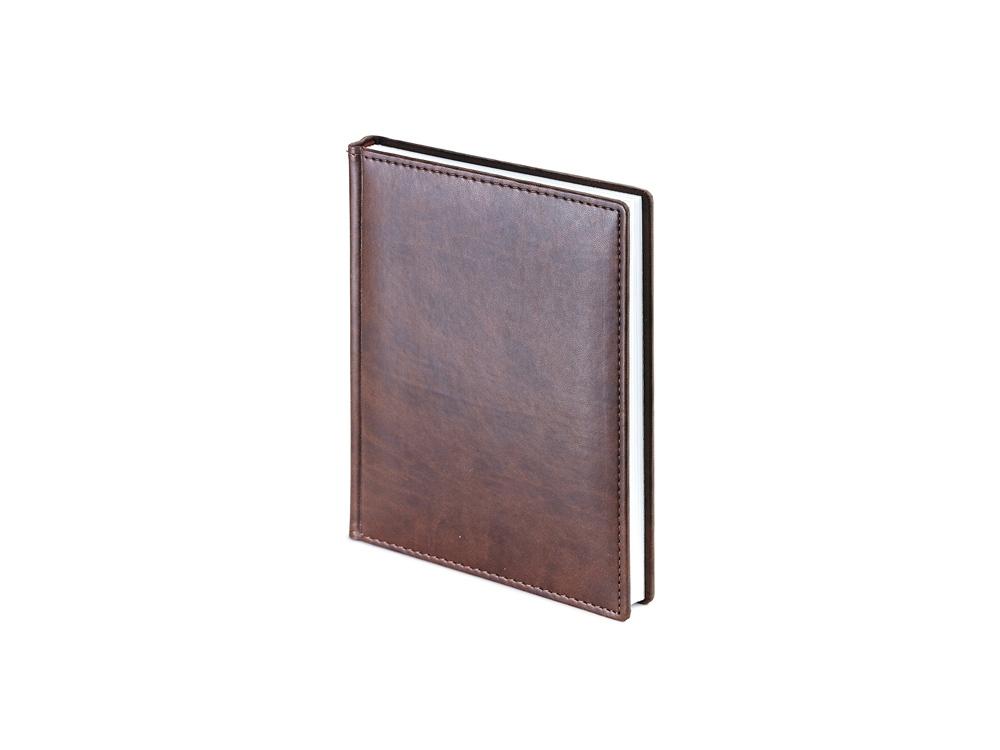 Ежедневник недатированный А6+ Velvet, коричневый