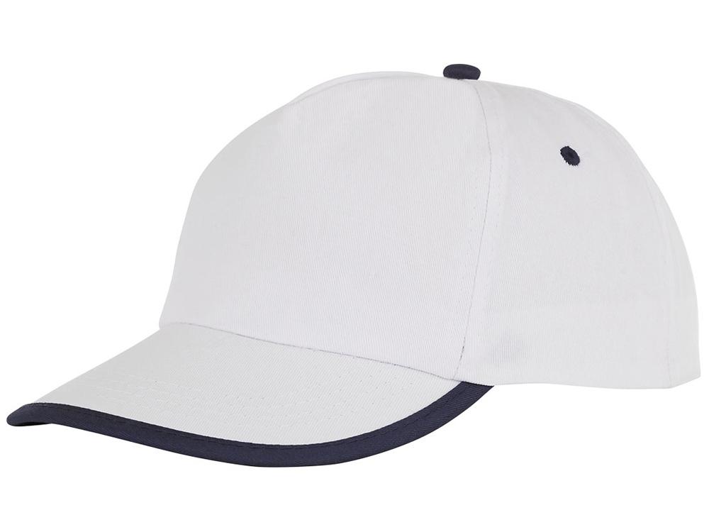 Пятипанельная кепка Nestor с окантовкой, белый/темно-синий