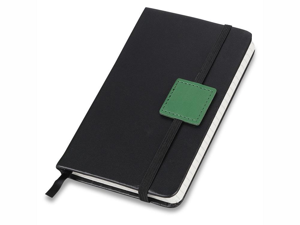 Блокнот А6 Label черный/зеленый. Lettertone