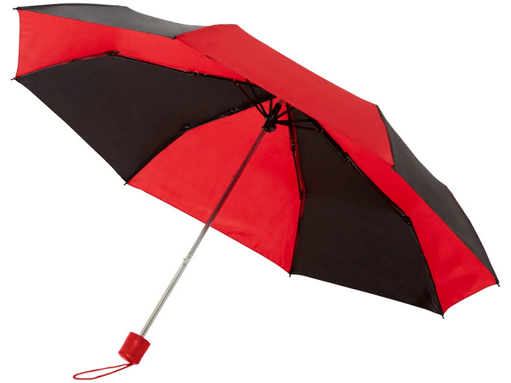 Зонт Spark 21 трехсекционный механический, черный/красный
