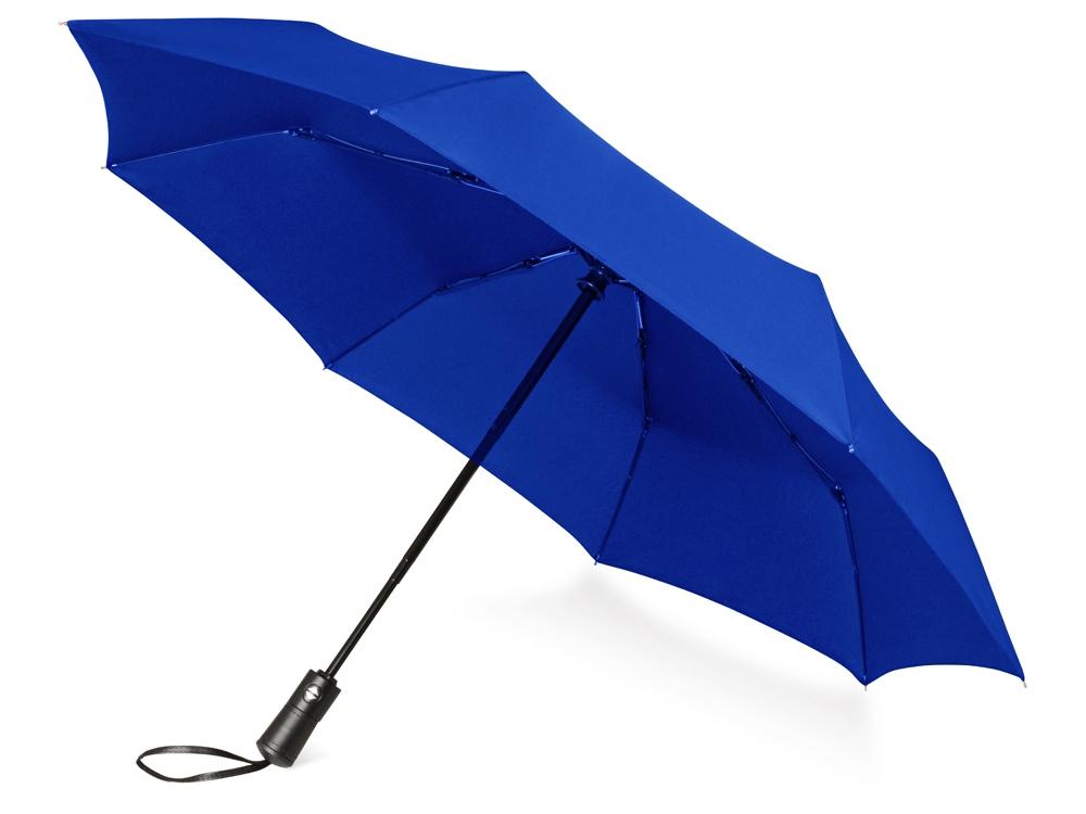 Зонт складной Ontario, автоматический, 3 сложения, с чехлом, темно-синий (Р)