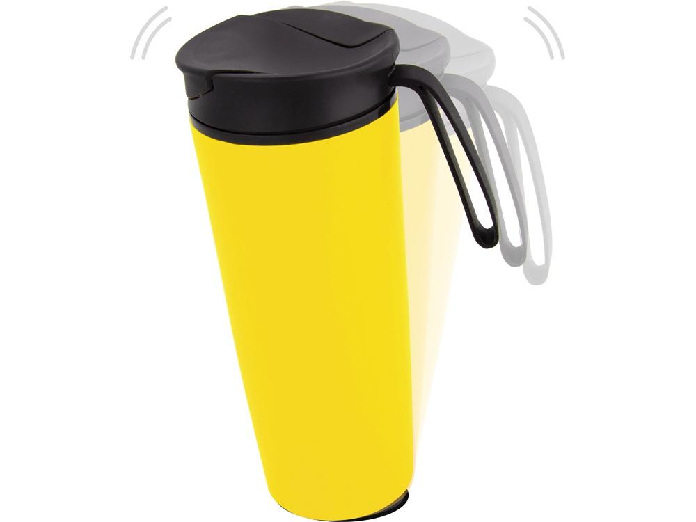 Термокружка Годс 470мл на присоске, желтый
