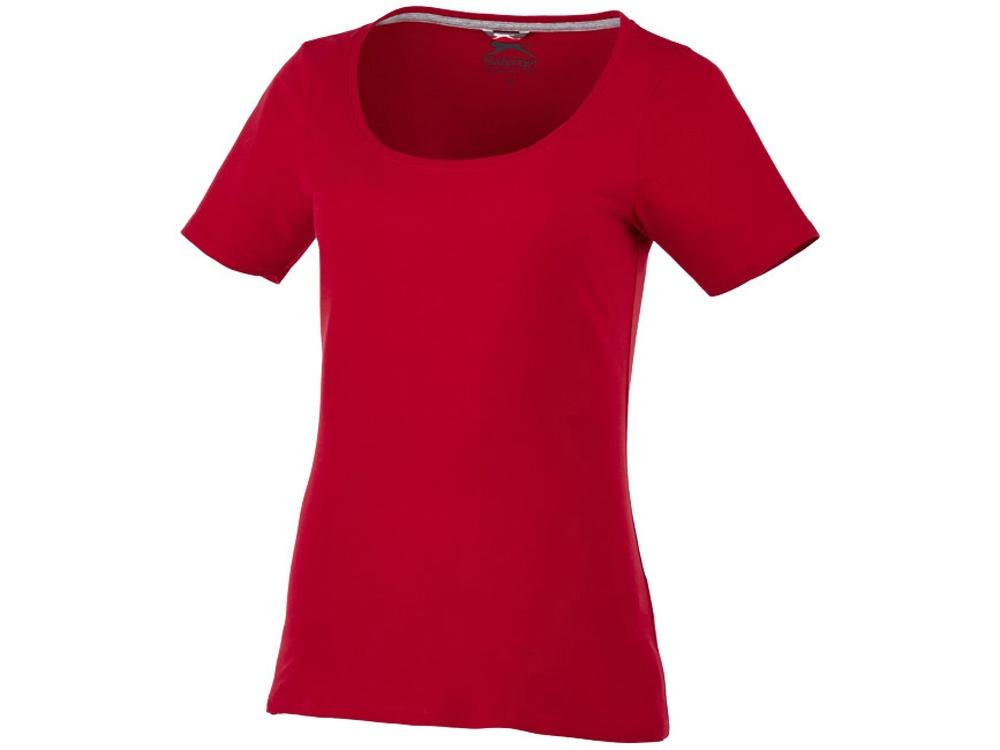 Женская футболка с короткими рукавами Bosey, темно-красный
