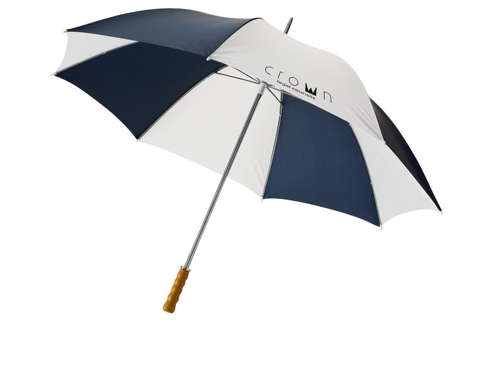 Зонт Karl 30 механический, темно-синий/белый