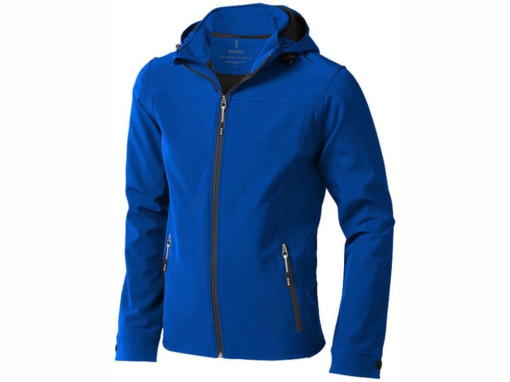 Куртка софтшел Langley мужская, синий