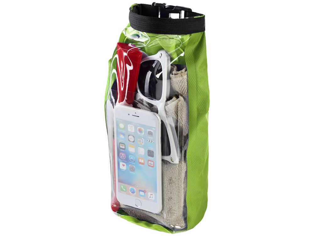 Туристическая водонепроницаемая сумка объемом 2 л, чехол для телефона, лайм