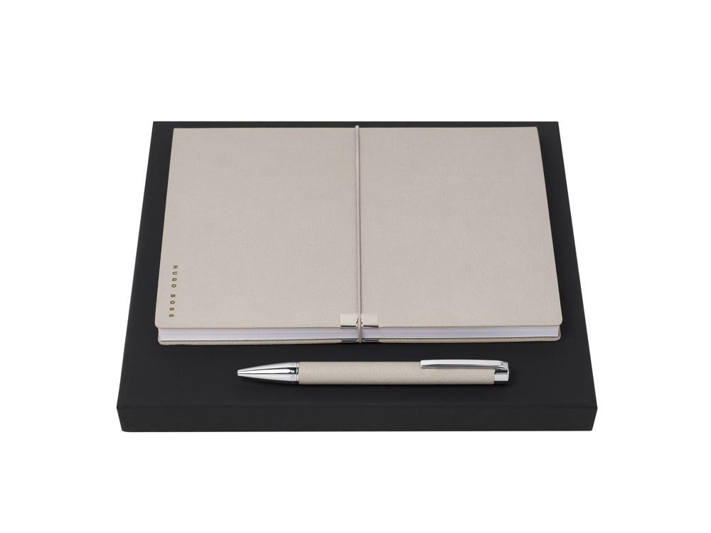 Подарочный набор: блокнот А5, ручка шариковая. Hugo Boss