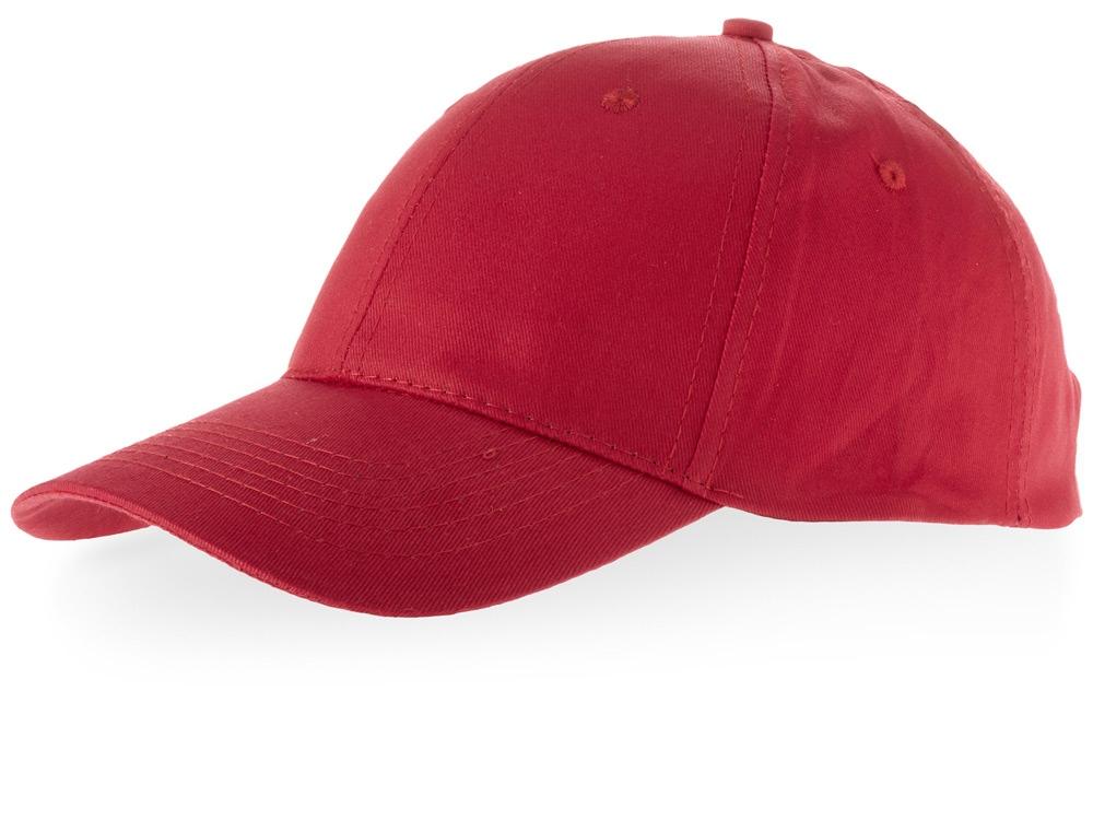 Бейсболка Watson, 6 панелей, красный