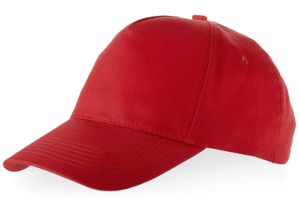Бейсболка Brunswick, 5 панелей, красный