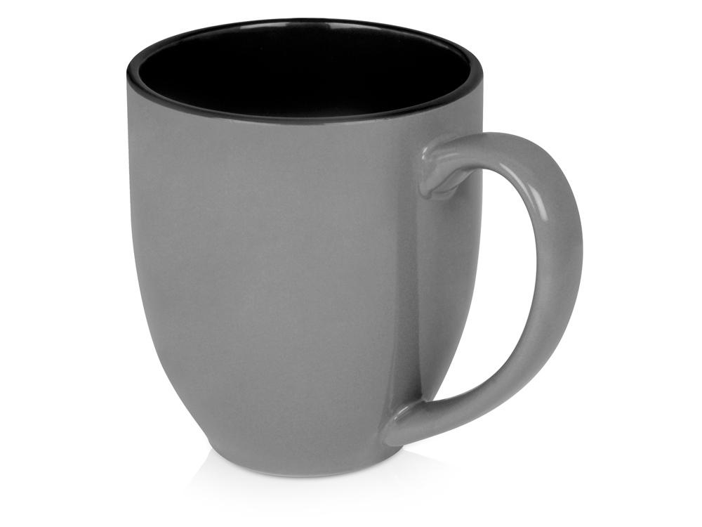 Кружка керамическая Gracy 470мл, серый/черный