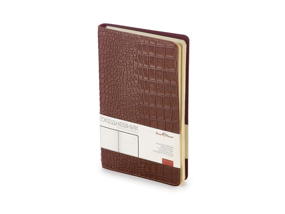 Ежедневник недатированный А5 Boston, коричневый