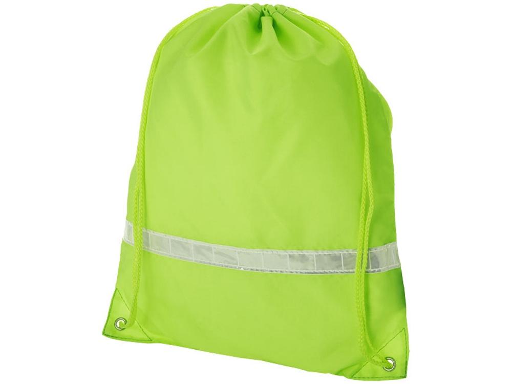 Рюкзак ''Premium'' со светоотражающей полоской, неоновый зеленый