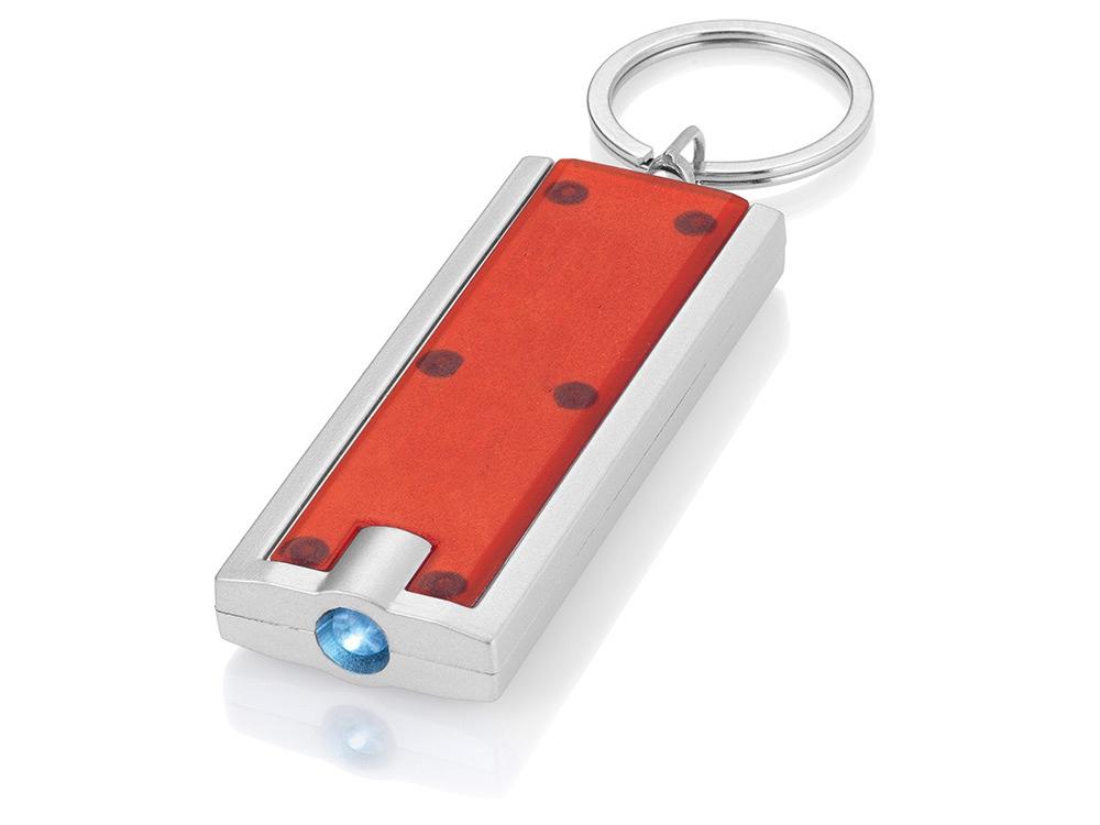 Брелок-фонарик Castor, красный