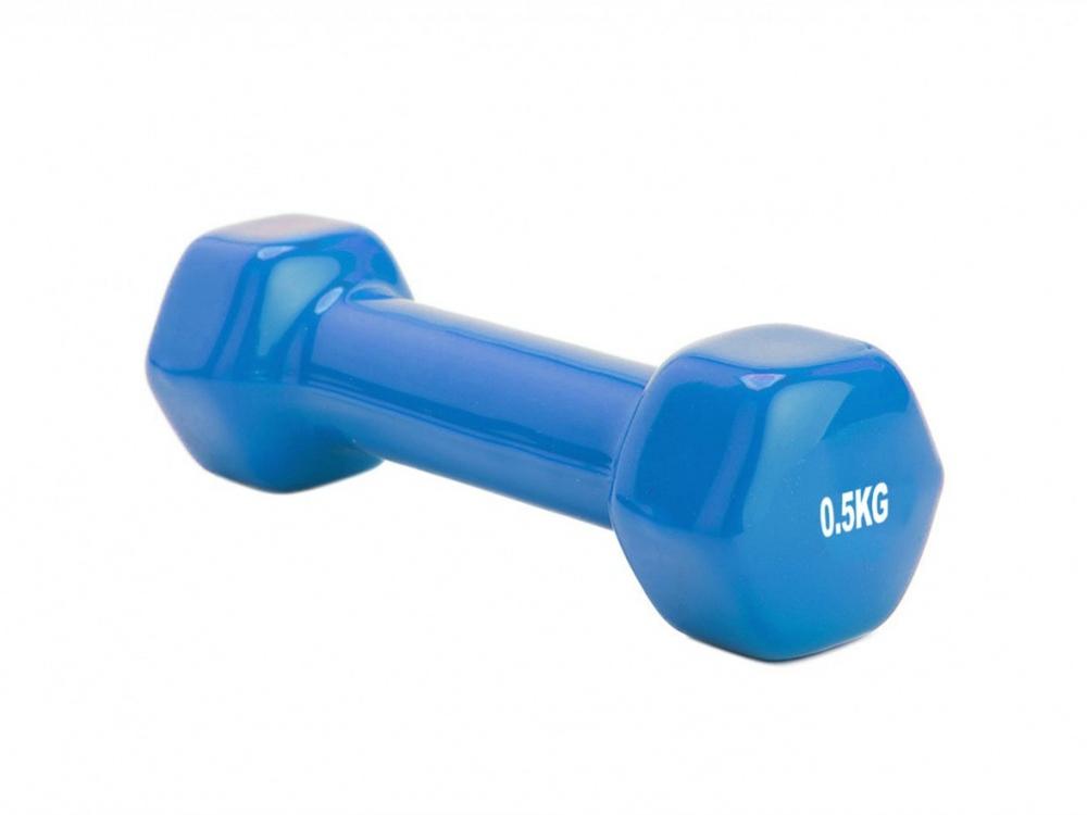 Гантель обрезиненная Alfina 0,5 кг, синий