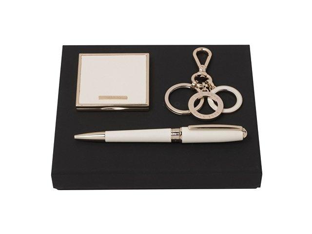 Подарочный набор: зеркало складное, брелок, ручка шариковая