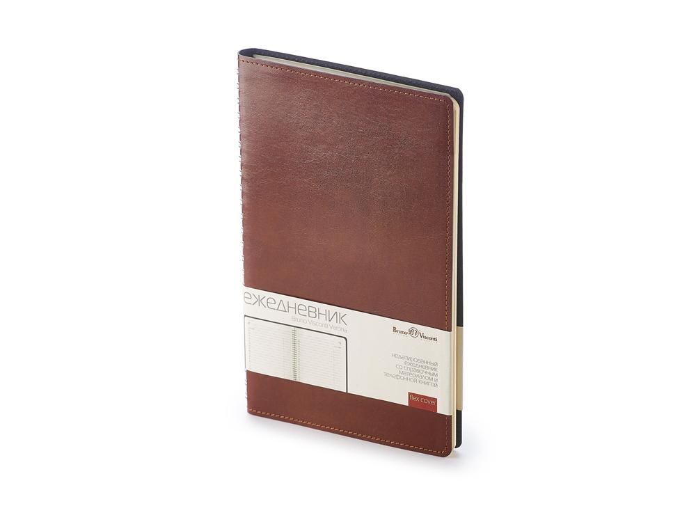 Ежедневник А5 недатированный Verona, коричневый