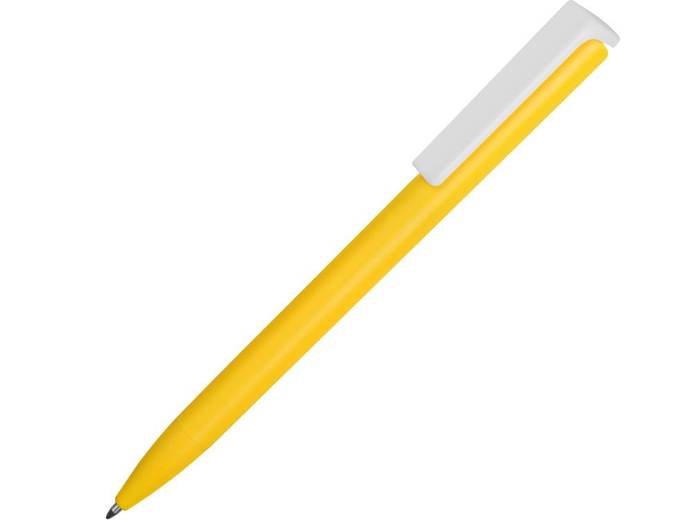 Ручка пластиковая шариковая Fillip, желтый/белый