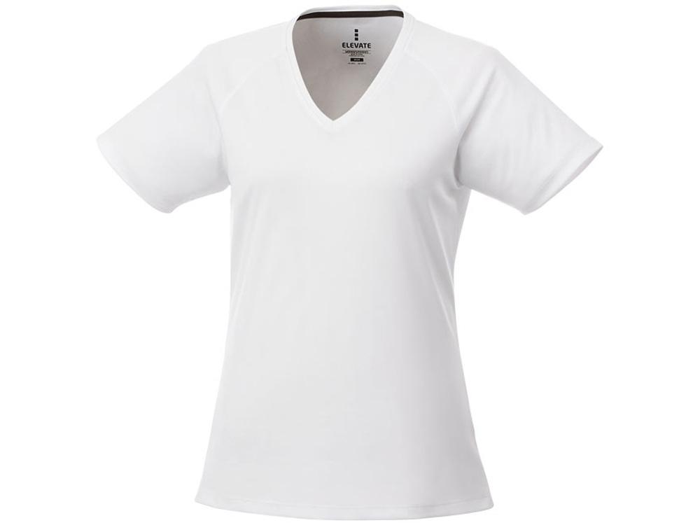 Модная женская футболка Amery  с коротким рукавом и V-образным вырезом, белый