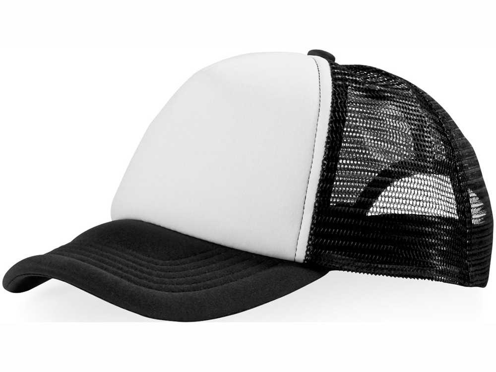 Бейсболка Trucker, черный/белый