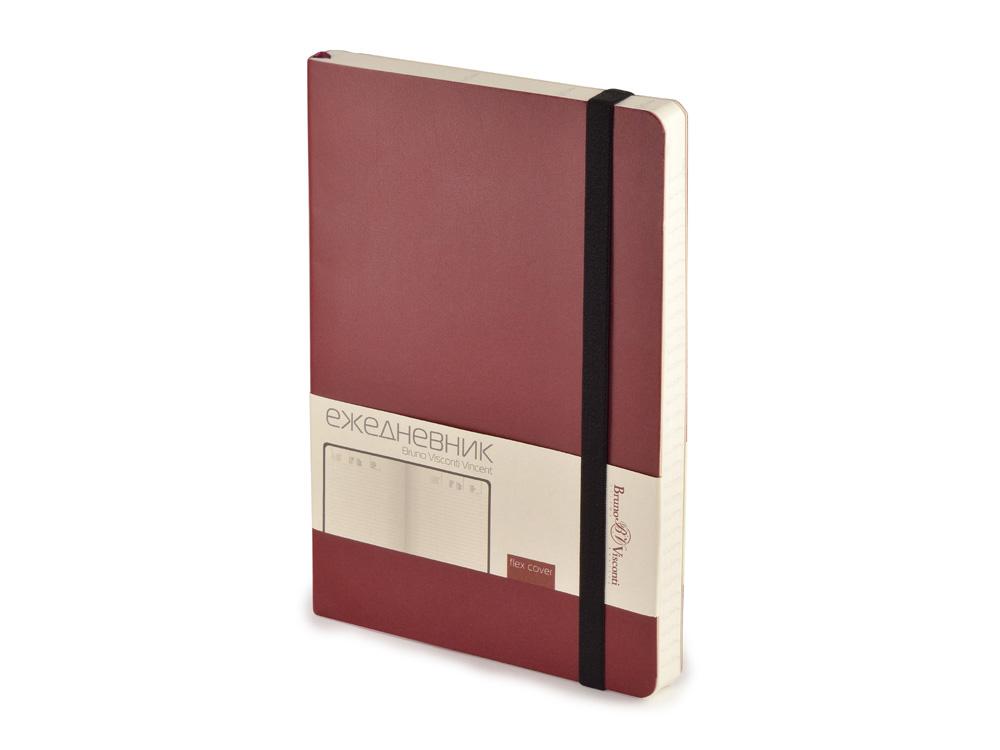 Ежедневник недатированный А5 Vincent, бордовый