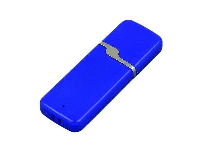 Флешка промо прямоугольной формы c оригинальным колпачком, 16 Гб, синий