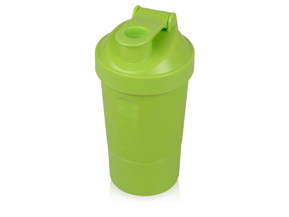 Шейкер для спортивного питания Level Up, зеленое яблоко