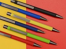 Ручка металлическая шариковая «Straight Gum» soft-touch с зеркальной гравировкой (арт. 187927.09), фото 2