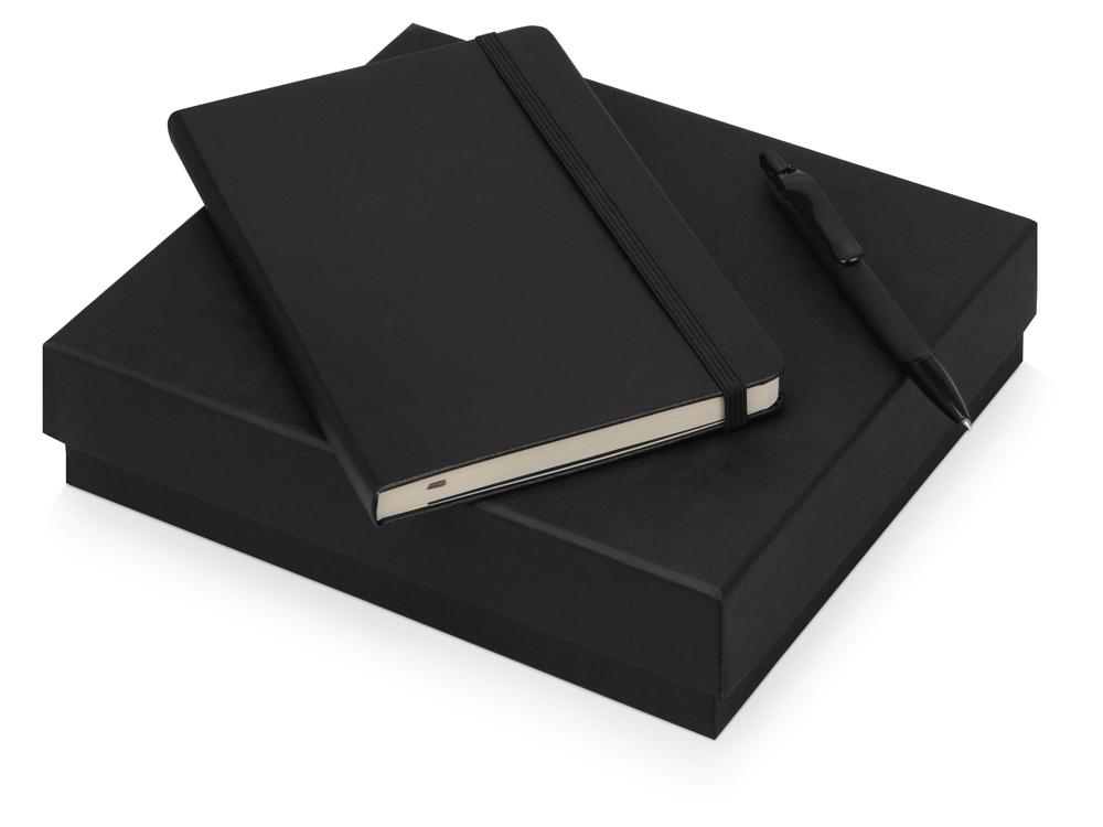 Подарочный набор Moleskine Sherlock с блокнотом А5 и ручкой, черный
