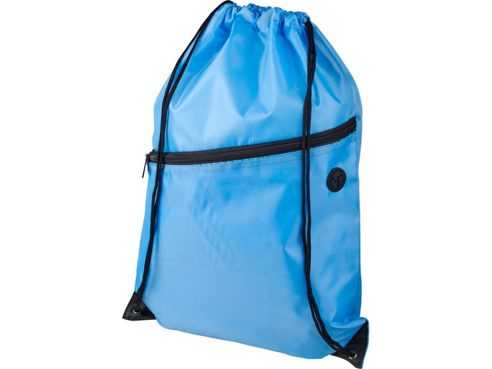 Рюкзак Oriole на молнии со шнурком, светло-синий
