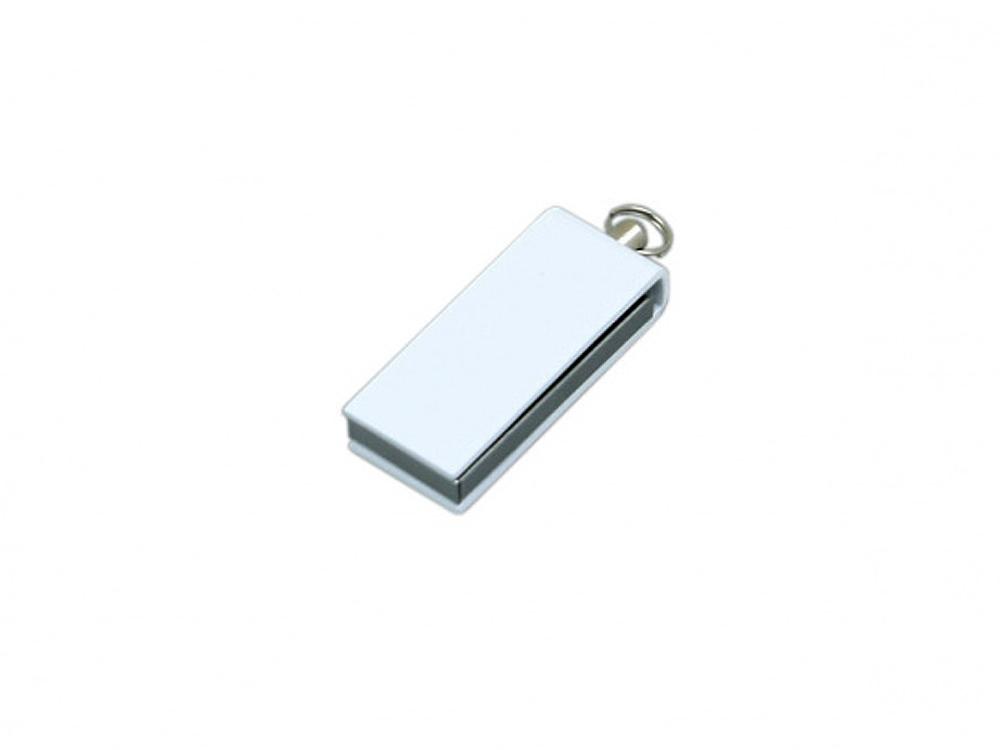 Флешка с мини чипом, минимальный размер, цветной  корпус, 64 Гб, белый