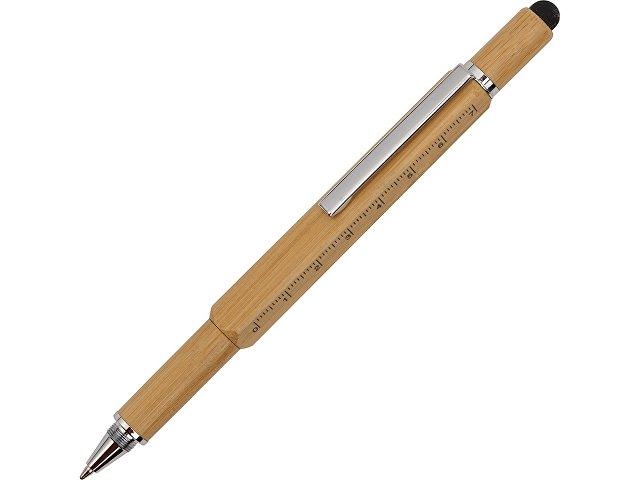 Ручка-стилус из бамбука «Tool» с уровнем и отверткой