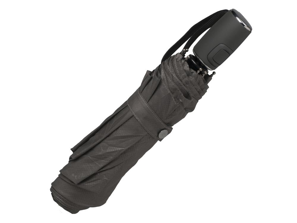 Зонт складной Loop. Hugo Boss, темно-серый
