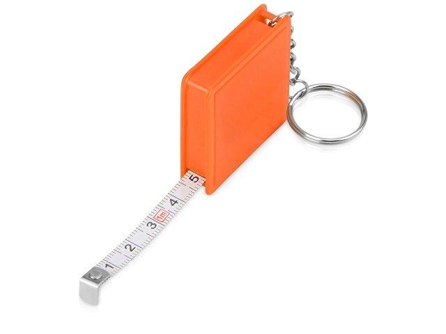 Брелок-рулетка, 1 м., оранжевый