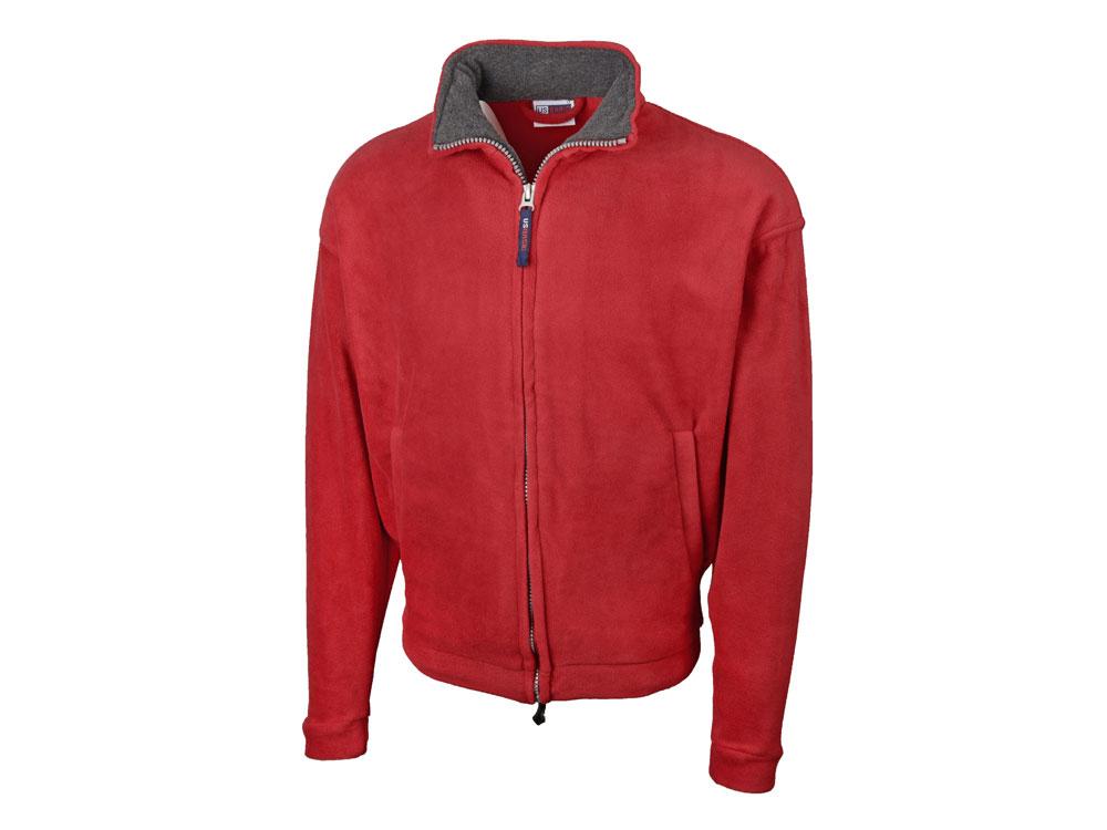 Куртка флисовая Nashville мужская, красный/пепельно-серый