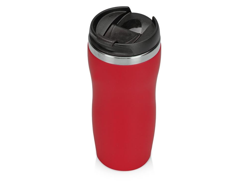 Термокружка Mony Steel 350 мл, soft touch, красный