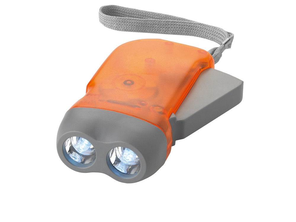 Фонарь Virgo с механической подзарядкой, оранжевый