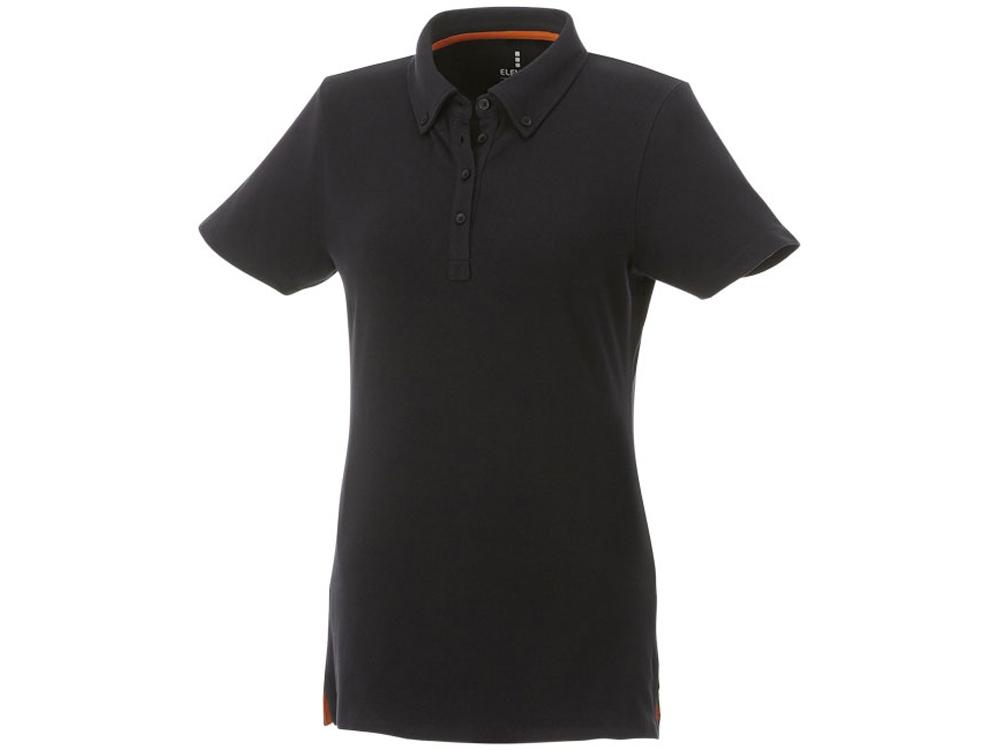 Женская футболка поло Atkinson с коротким рукавом и пуговицами, черный