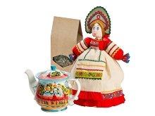 Подарочный набор «Деревенские вечера»: кукла на чайник, чайник заварной с росписью (арт. 6271)