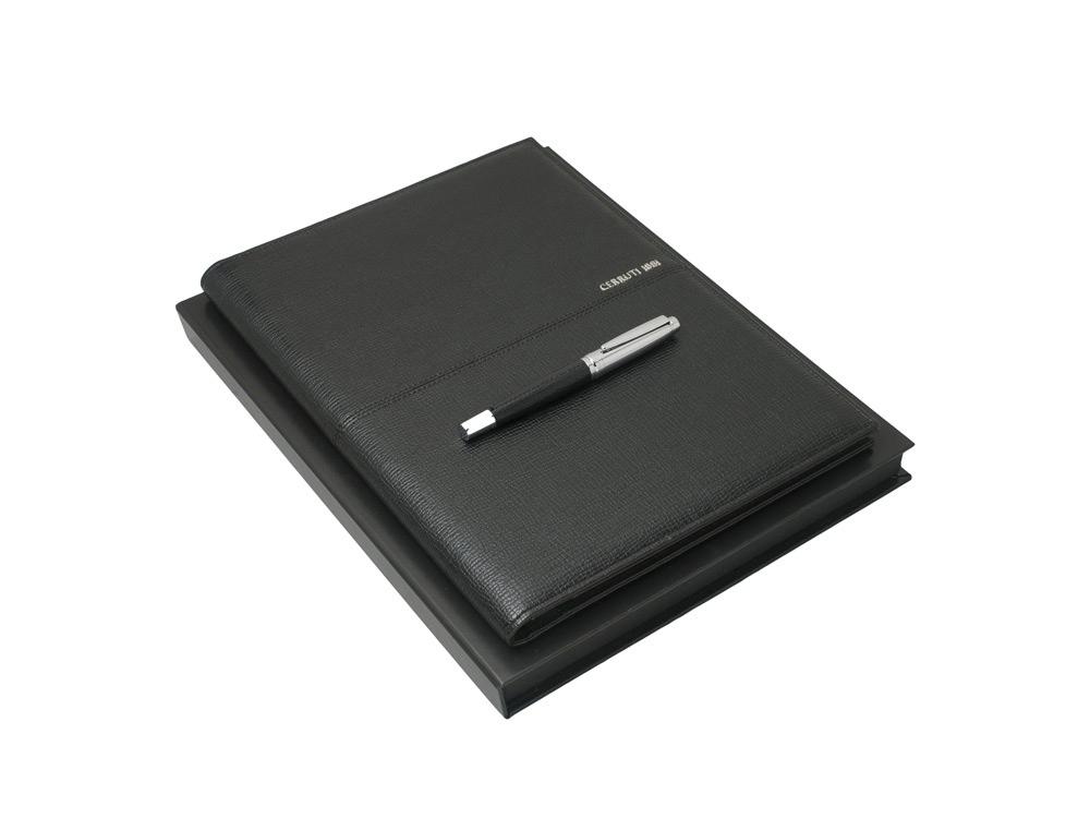 Подарочный набор HOLT: папка A4, ручка-роллер. Cerruti 1881