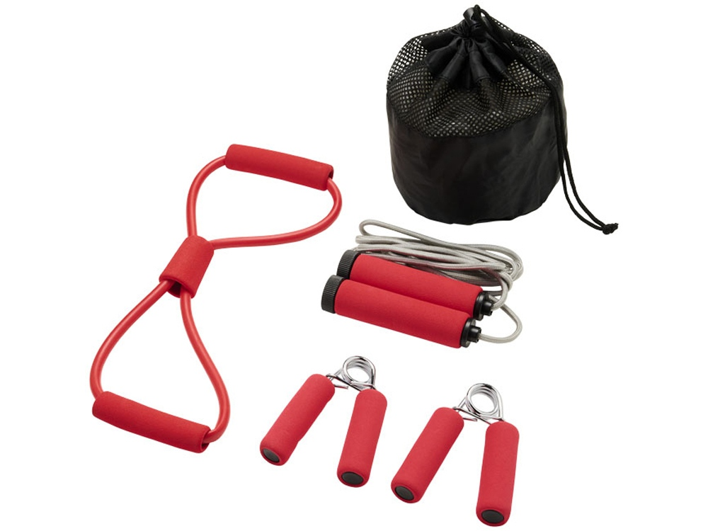 Набор для фитнеса Dwayne, красный