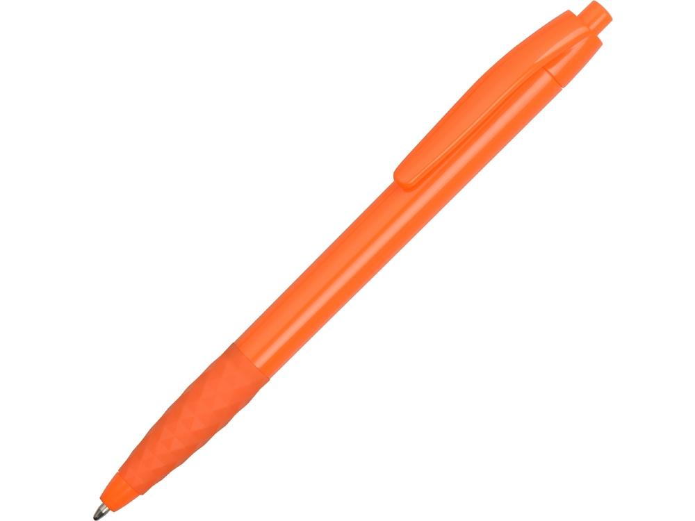 Ручка пластиковая шариковая Diamond, оранжевый