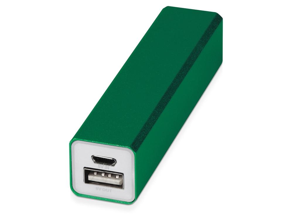 Портативное зарядное устройство Брадуэлл, 2200 mAh, зеленый