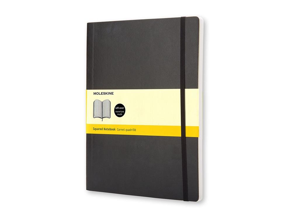 Записная книжка Moleskine Classic Soft (в клетку), ХLarge (19х25 см), черный